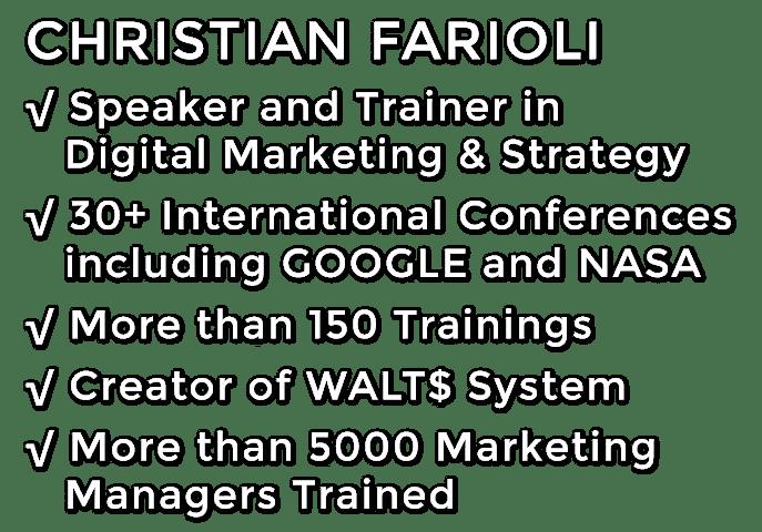 Christian Farioli Digital Marketing Speaker